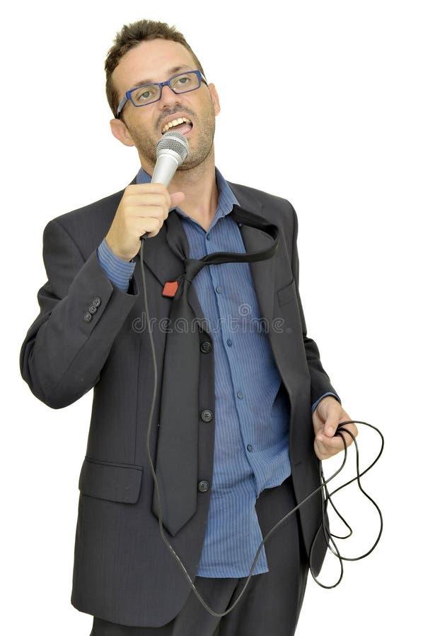 Cantante di karaoke immagini stock libere da diritti