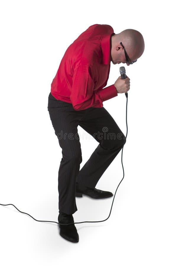 Cantante di karaoke fotografie stock libere da diritti
