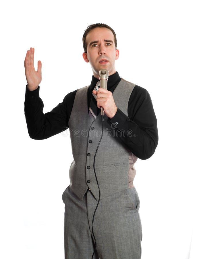 Cantante di karaoke fotografia stock libera da diritti