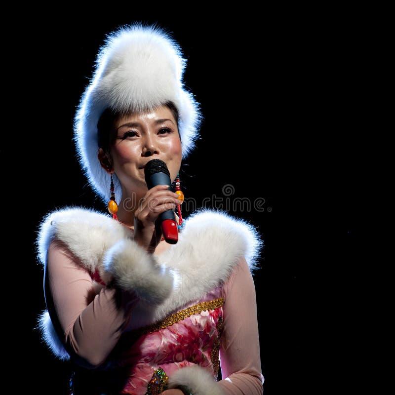 Cantante di piega etnico tibetano immagine stock
