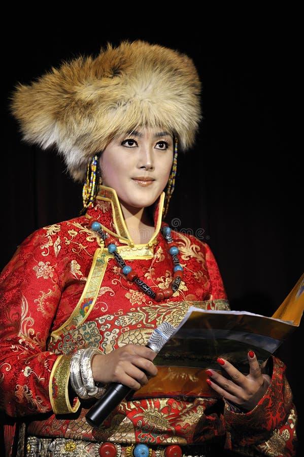 Cantante etnico tibetano fotografia stock