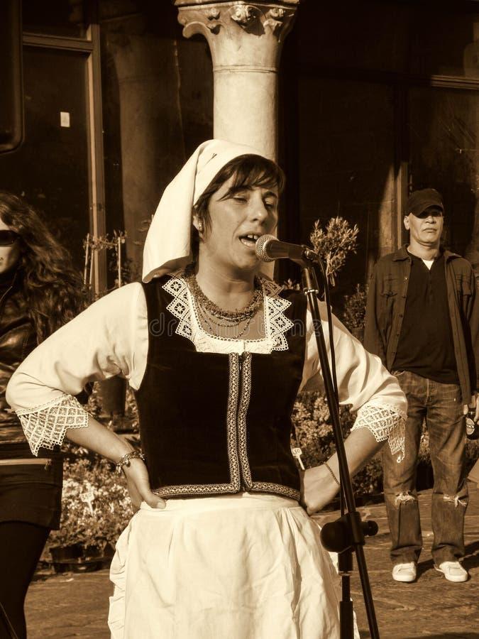 Cantante a Genova fotografia stock