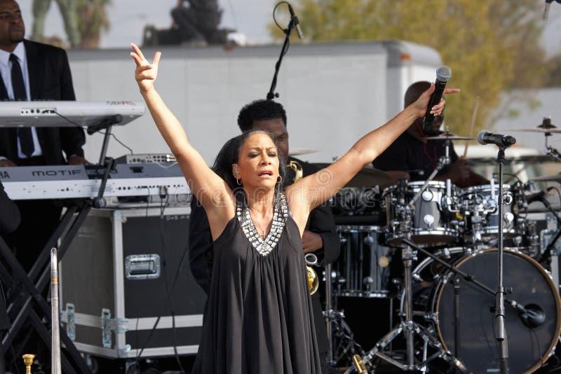 Cantante Sheila E. imagenes de archivo