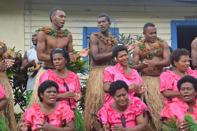 Cantantes del Fijian imagen de archivo libre de regalías