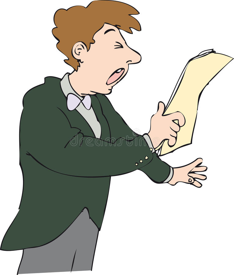 cantar ilustração do vetor