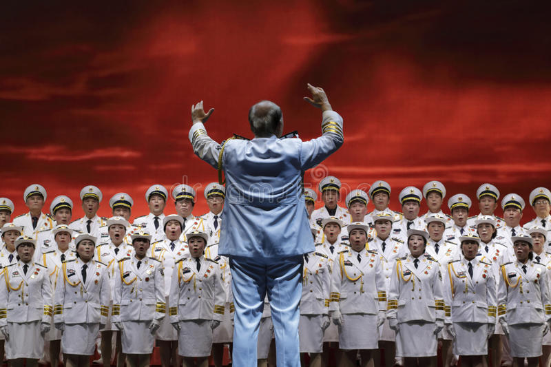 Cantata. Large variety epic forever yangtze river detachment. The second half of 1948, the pla destroyed the main military forces of kuomintang. mao zedong stock image