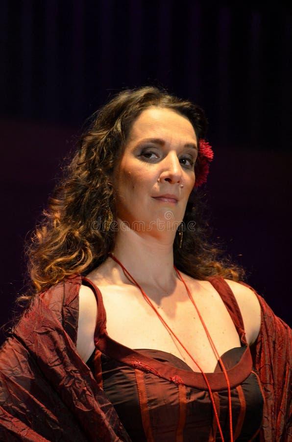 Cantautore e cantante portoghesi Dulce Pontes immagini stock libere da diritti