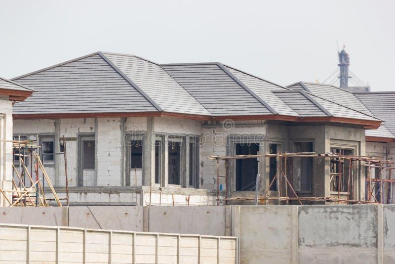 Canteiro da construção e das obras da casa nova fotografia de stock royalty free