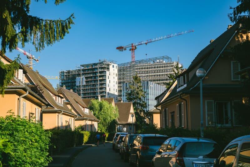 Canteiro de obras de construções altas em Wacken Strasbourg foto de stock