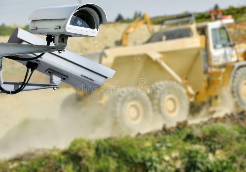 Canteiro de obras da câmera do CCTV imagens de stock royalty free