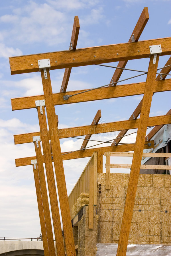 Canteiro de obras do telhado da alameda de tira fotos de stock
