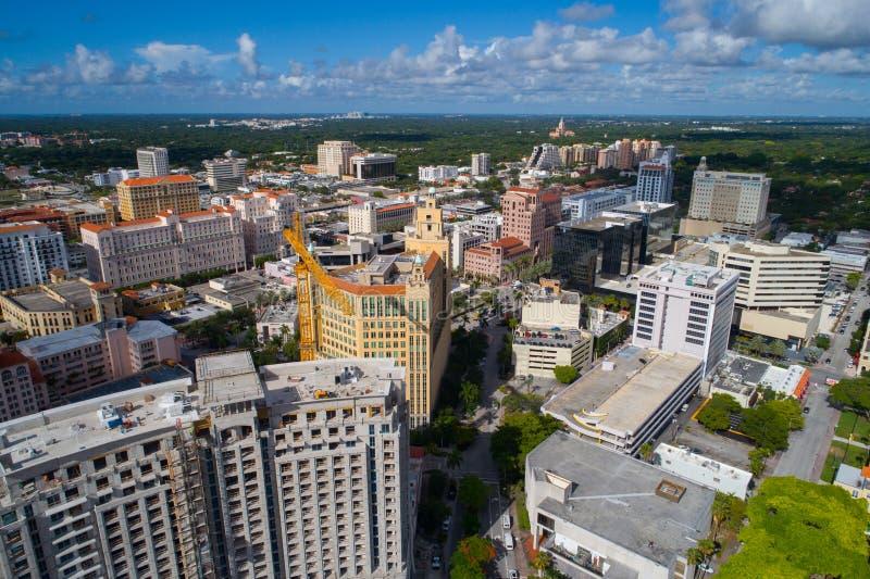 Canteiros de obras em Coral Gables Miami imagens de stock