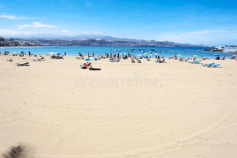 Canteras beach, Las Palmas de Gran Canaria, Spain stock photography