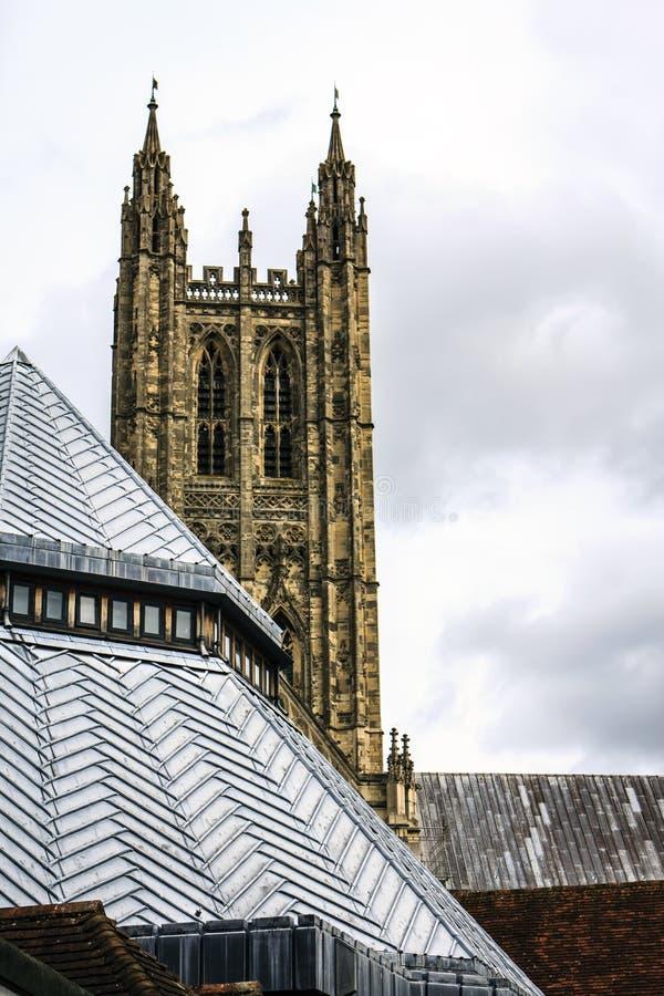 Canterbury Cathedral Cloister, Kent, United Kingdom. stock photo