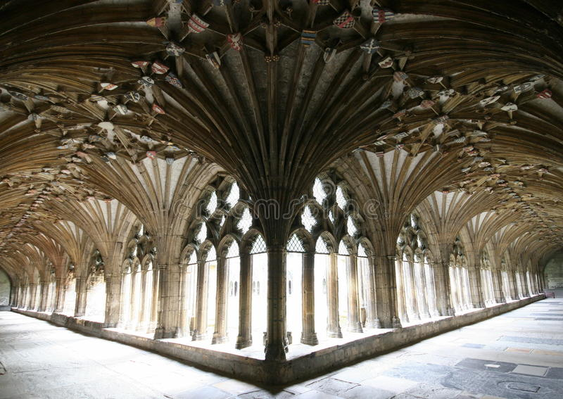 Canterbury Cathedral, The Cloisters royalty free stock photos