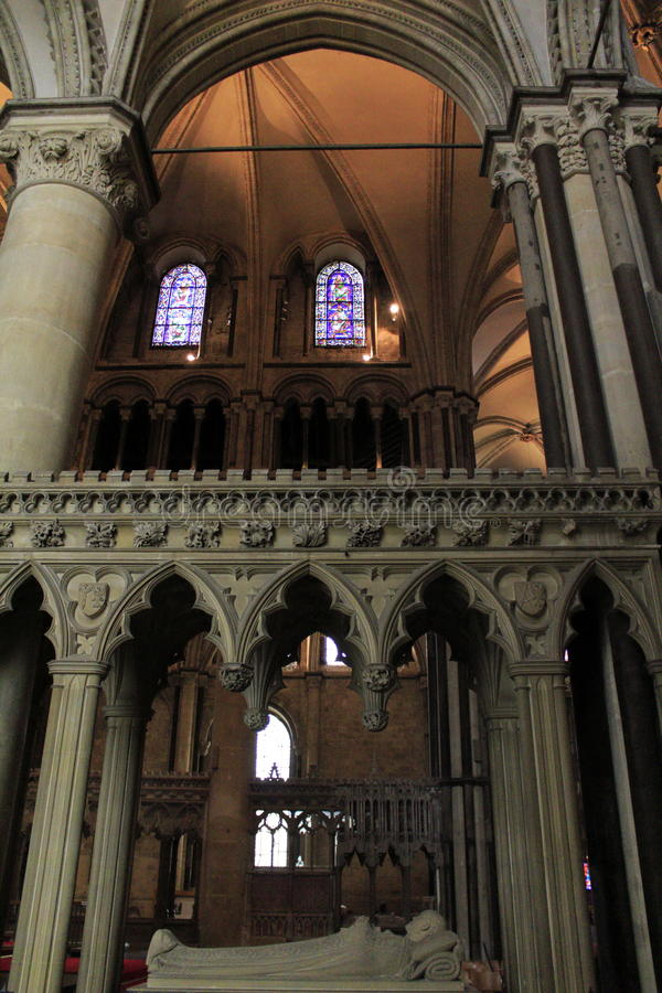 Canterbury Cathedral inside England. Canterbury Cathedral inside.UNESCO world heritage site royalty free stock photography