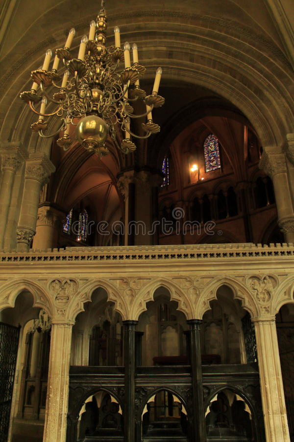 Canterbury Cathedral inside England. Canterbury Cathedral inside.UNESCO world heritage site royalty free stock images