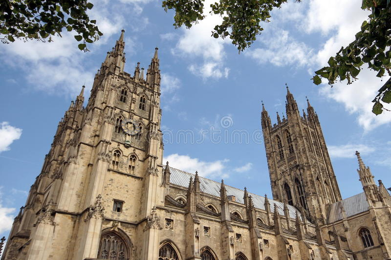 Download Canterbury Cathedral, Side Elevation Stock Image - Image of arched, britain: 10909405