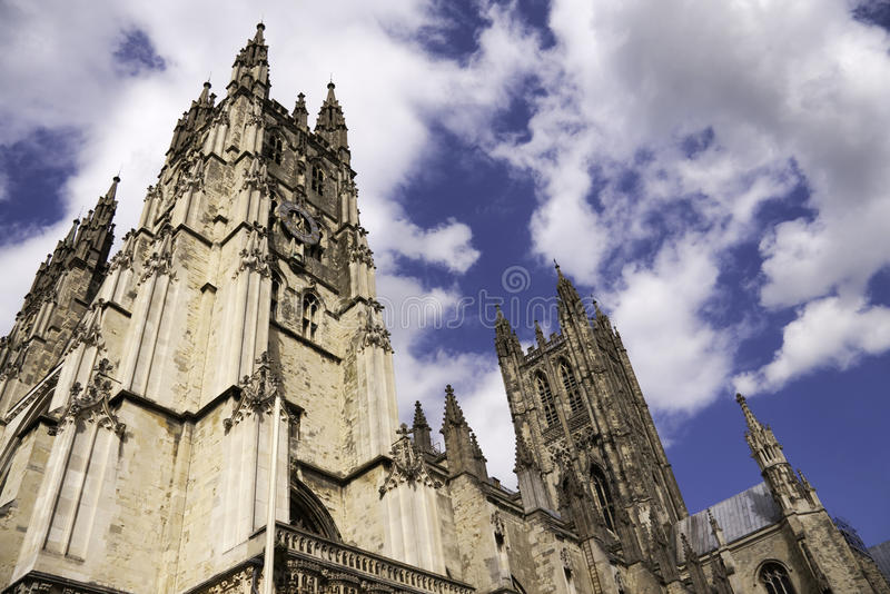 Canterbury Cathedral on a sunny day stock photo