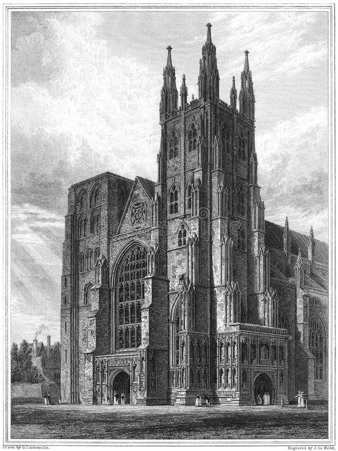 Canterbury Cathedral, the Western Towers stock photo