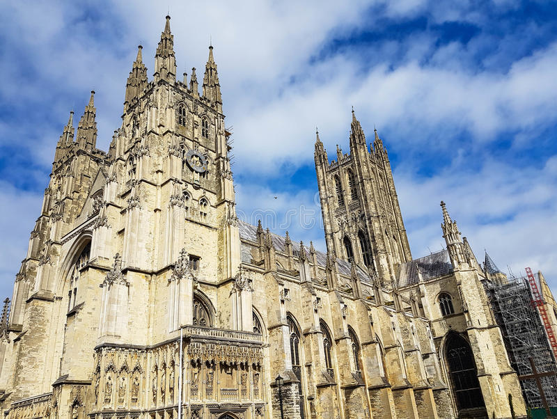 Canterbury domkyrkakloster, Kent, Förenade kungariket arkivfoton
