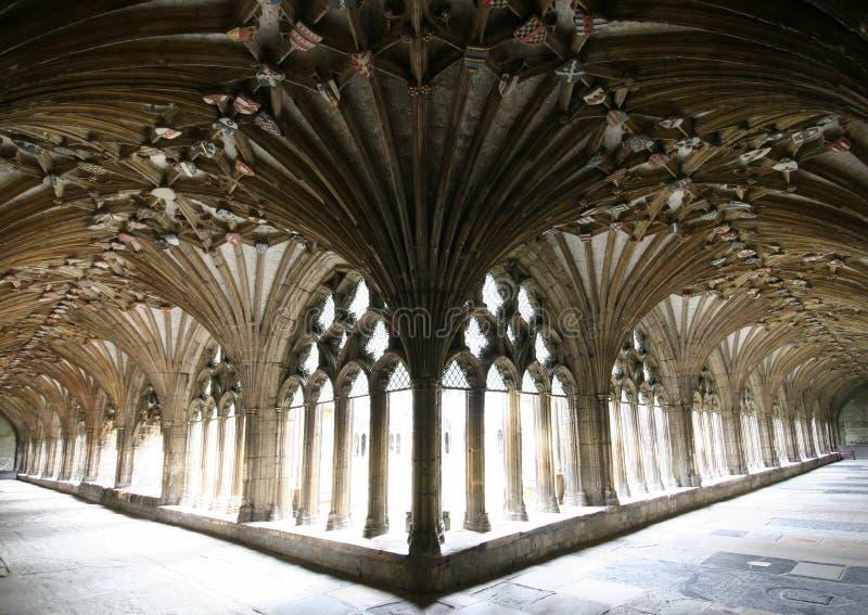 canterbury katedry cloisters zdjęcia royalty free