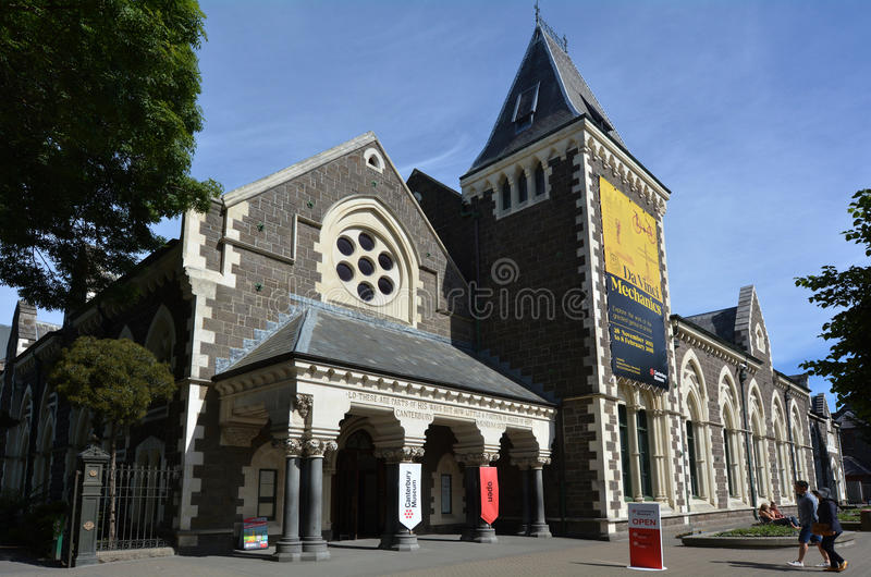 Canterbury muzeum Christchurch, Nowa Zelandia, - fotografia royalty free