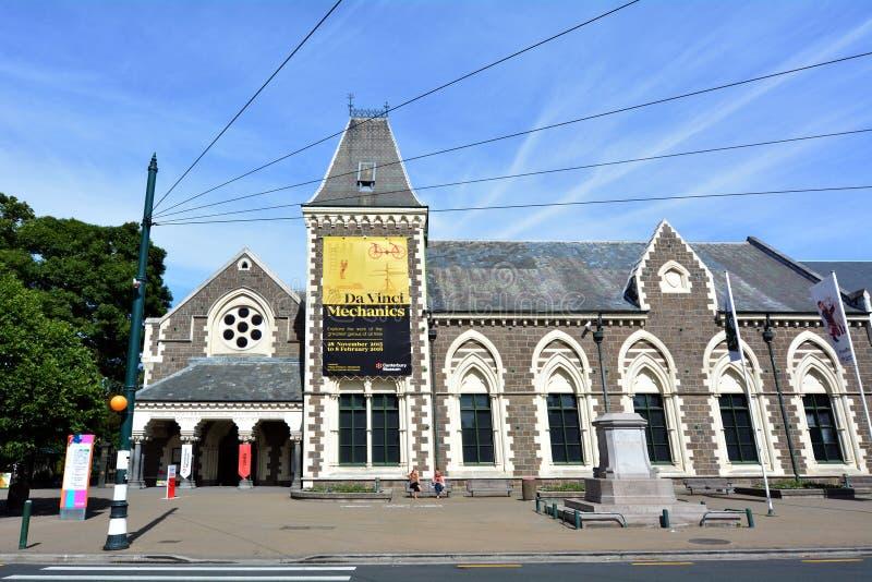 Canterbury muzeum Christchurch, Nowa Zelandia, - obraz stock