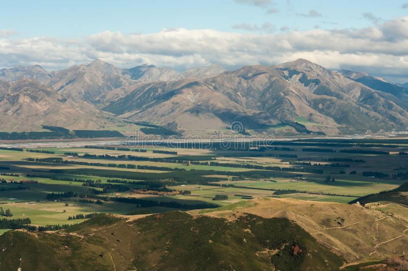 Canterbury plains. In New Zealand stock image