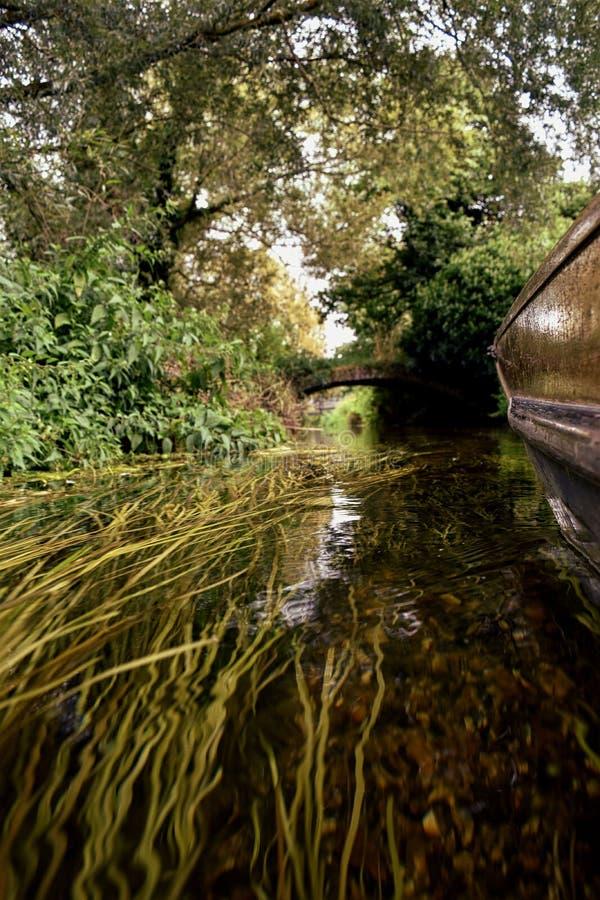 Canterbury sailing canal, beetwen buildings. royalty free stock photos