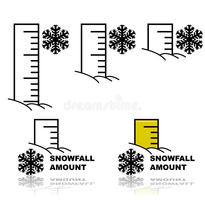 Cantidad de las nevadas stock de ilustración