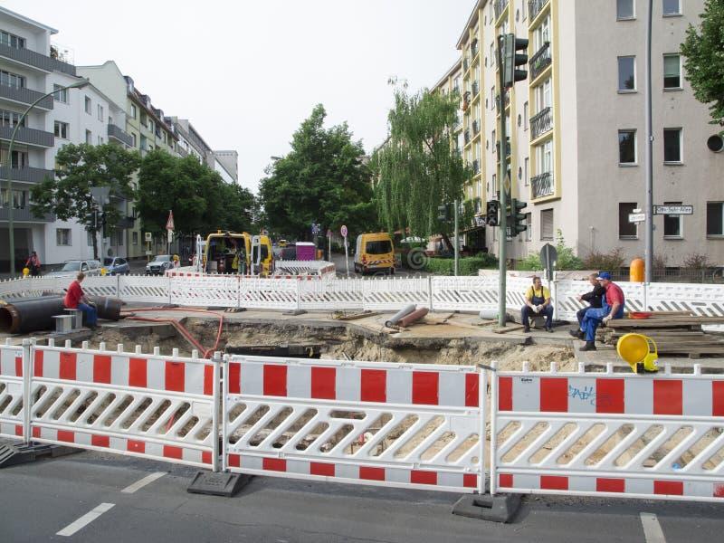 Cantiere Berlin Charlottenburg fotografia stock