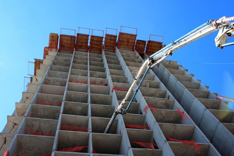 Cantiere concreto del Highrise immagine stock libera da diritti