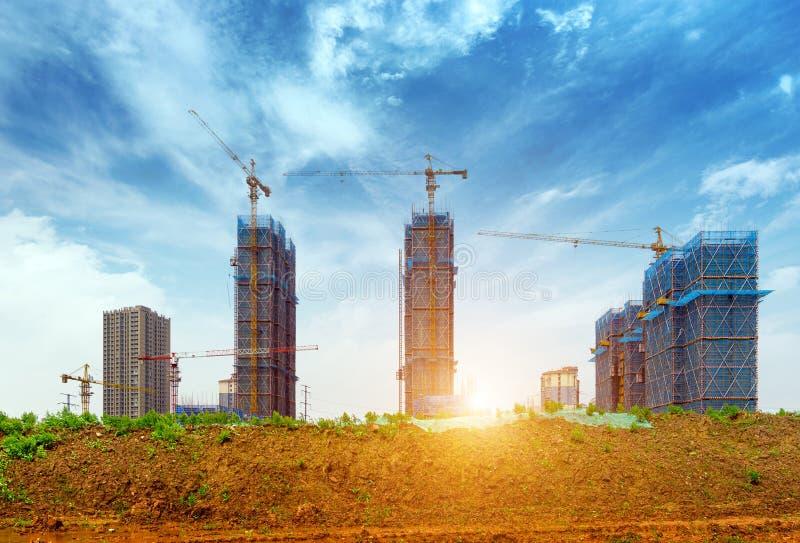 Cantiere del grattacielo immagine stock