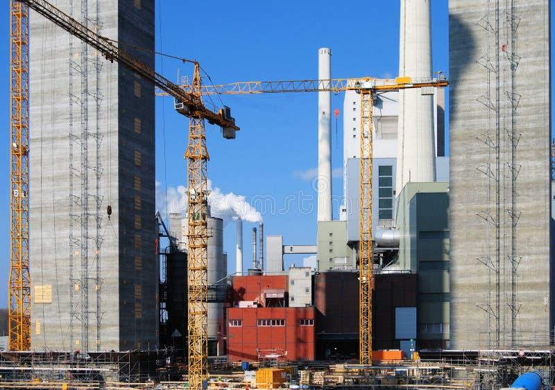 Cantiere della centrale elettrica fotografia stock