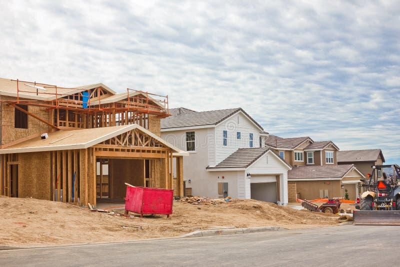 Cantiere di nuove case fotografia stock