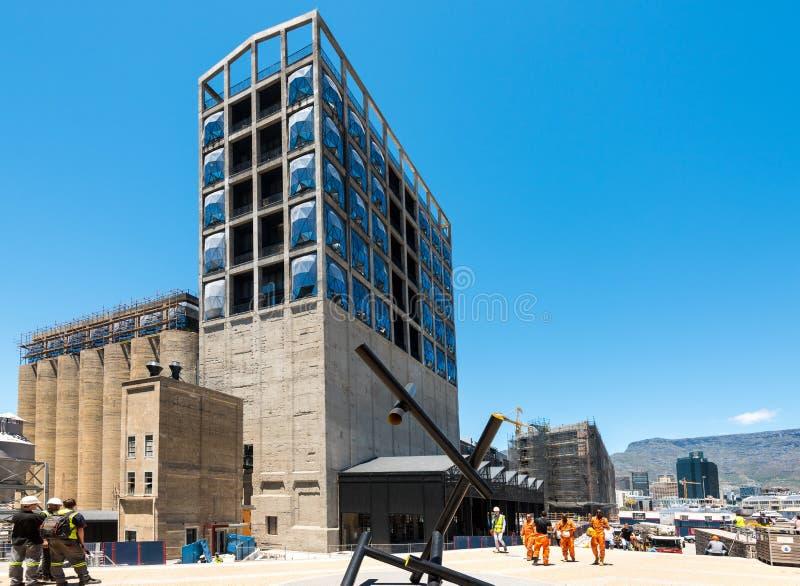 Cantiere di nuovo museo di Zeitz di arte contemporanea dell'Africa a Cape Town fotografie stock