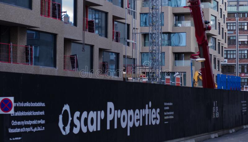 Cantiere di Oscar Properties immagine stock