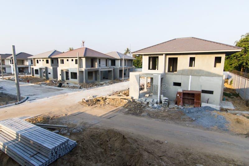 Cantiere e dell'edificio di nuova casa immagini stock