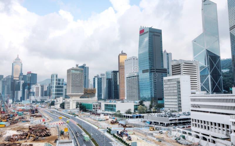 Cantiere enorme a Hong Kong fotografia stock