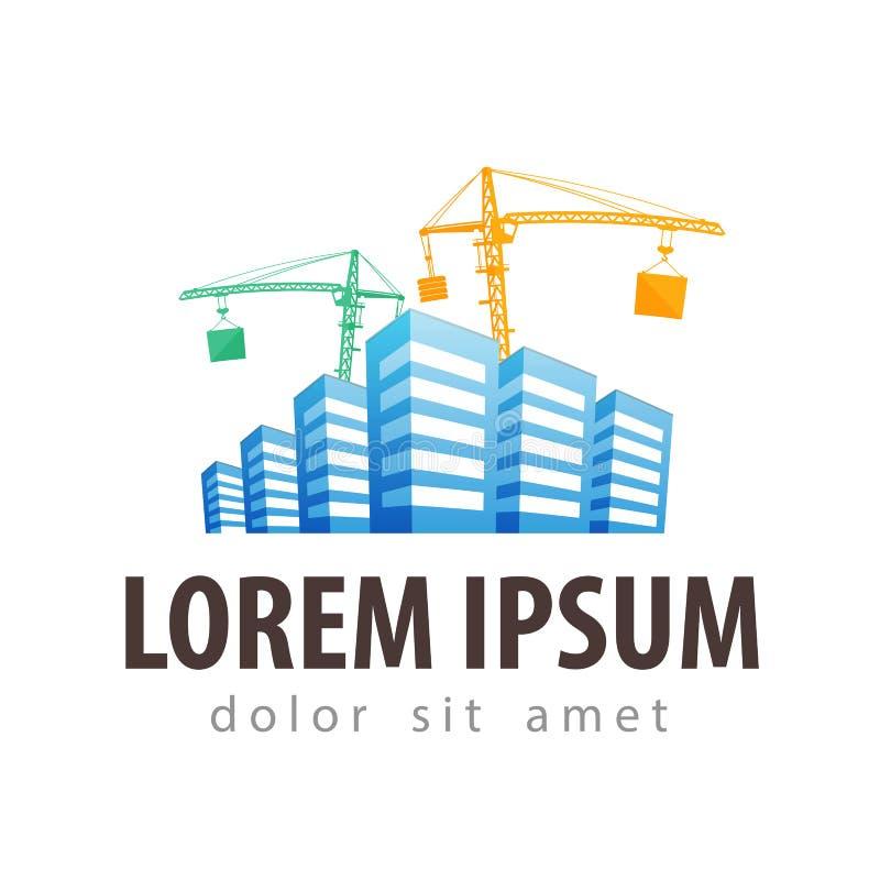 Cantiere logo di vettore del cantiere illustrazione for Software di layout di costruzione gratuito