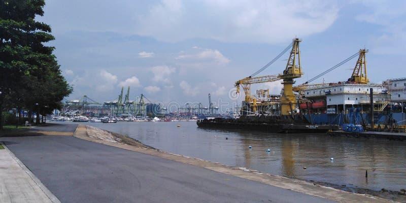 Cantiere navale del parco della costa ovest a Singapore fotografie stock