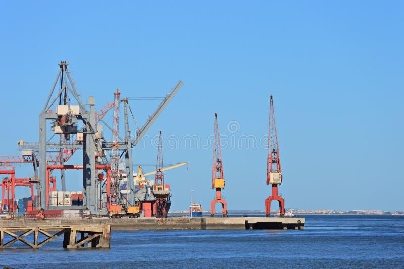 Cantiere navale di Lisbona, Portogallo immagine stock