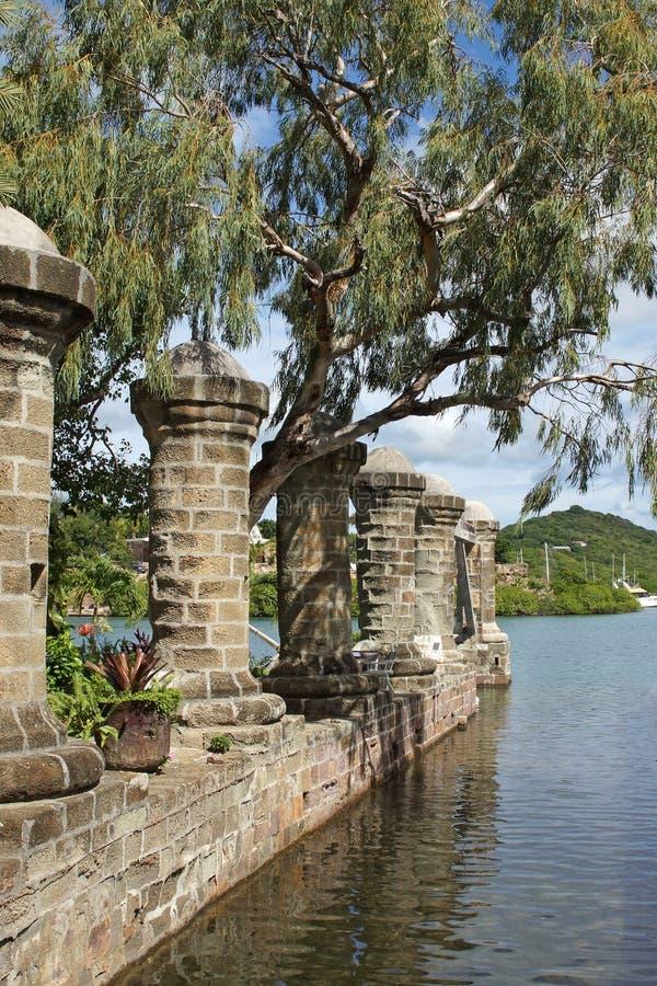 Cantiere navale di Nelsons, Antigua e Barbuda, caraibico fotografie stock