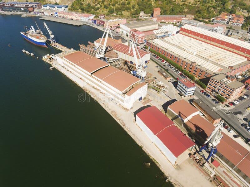 Cantiere navale a Erandio fotografia stock libera da diritti