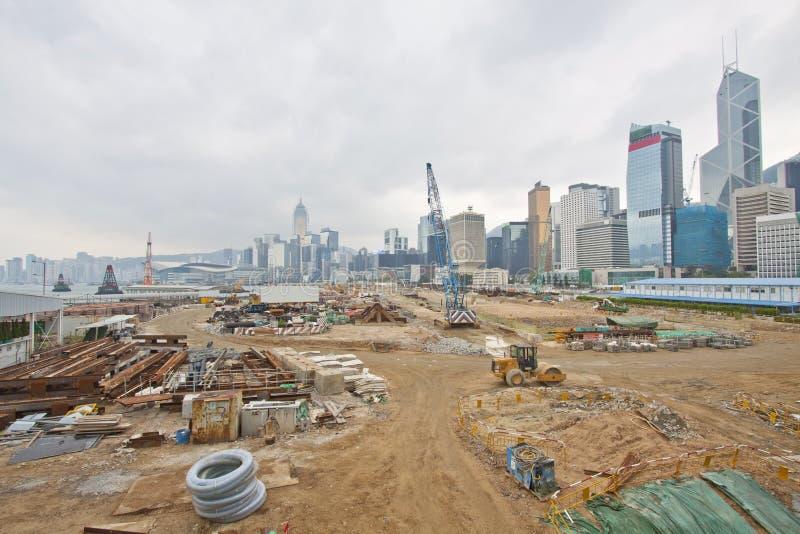 Cantiere per la nuova strada principale a Hong Kong fotografia stock