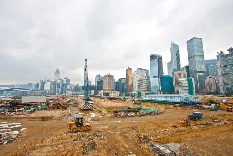 Cantiere per la nuova strada principale a Hong Kong immagine stock