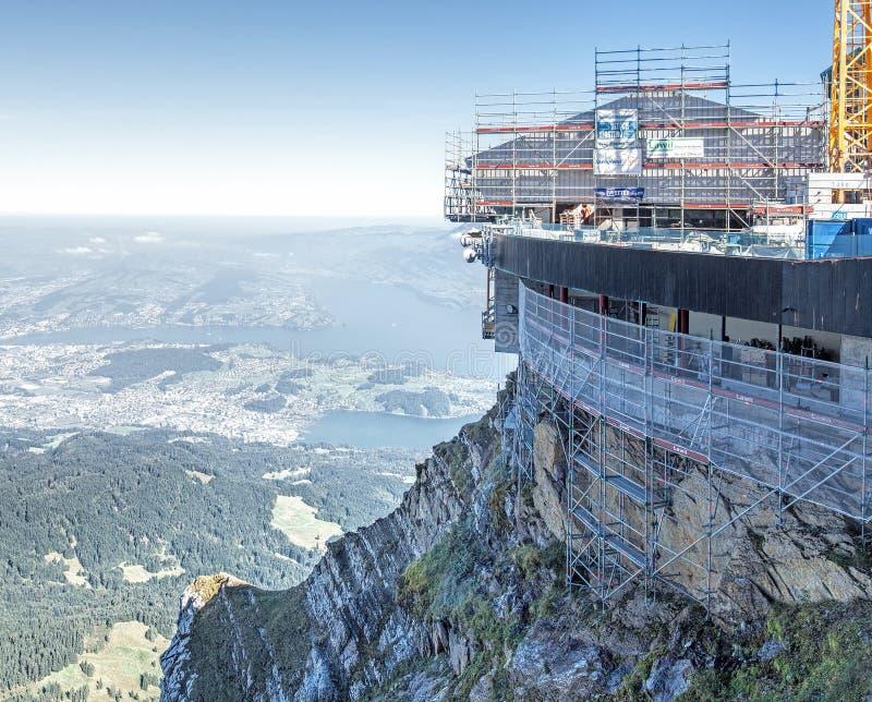 Cantiere sul Mt Pilatus immagini stock