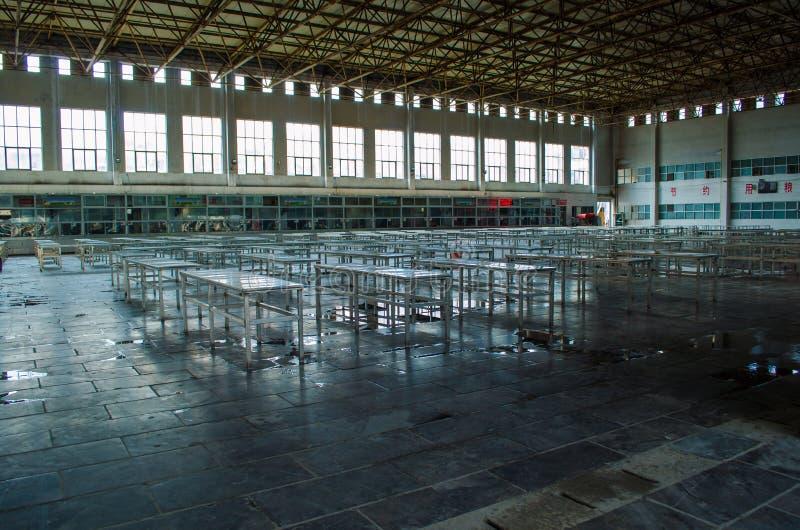 Cantina de la escuela en China fotos de archivo