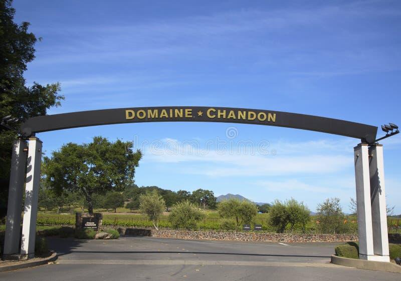Cantina di Chandon di dominio in Napa Valley immagine stock